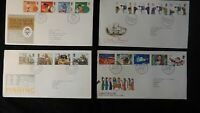 GB 1981/82 QEII FDC 4 duke of edinburgh, fishing, christmas, darwin