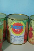 Vintage 1970s Neo-Life NEST Vegetable Noodle Soup Mix Can Full Unopened Storage