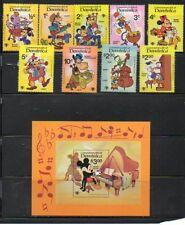 "Dominica ""Music Scenes"" Scott #'s 644-53 - Disney Topical - MNH"