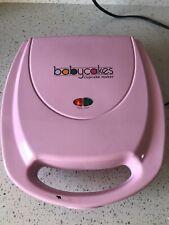 Babycakes Mini Cupcake Maker Pink Nonstick Plates CC-2828