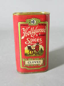Vintage Hollywood Nutmeg 4 Oz Spice Tin Seattle Washington