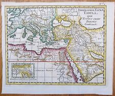 Desing Handcolored Map of Turkey Arabia - 1733