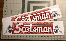 Scotsman Travel Trailer Decal Gardena, Calif Red Green Blk & White Set Of 2