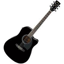 Ibanez PF15ECE-BK  PF Electro-Acoustic Guitar, Black