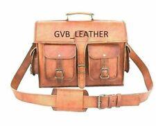Genuine Vintage bull's Leather Bag Rucksack Backpack Travel Walking Handmade