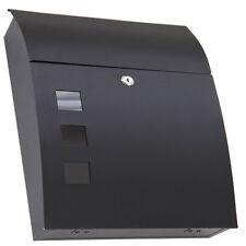 Premium Grafner Design Briefkasten Briefkästen Postkasten Post schwarz rund NEU