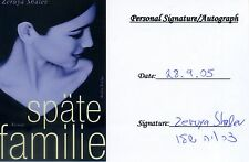 Original Autogramm späte Familie Autorin Zeruya Shalev 2005