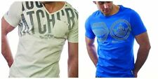 V Neck Short Sleeve Graphic Fitted T-Shirts for Men