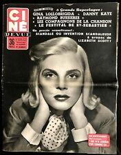 Ciné Revue 12/08/1955; Gina Lollobrigida/ Bussieres/ Compagnon de la chanson