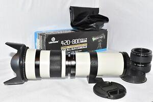Canon EOS DIGITAL fit 420 800mm 1600mm 2400mm zoom lens 1200D 1300D 2000D 4000D