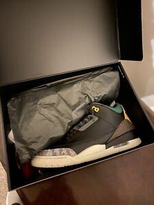 Nike Air Jordan 3 Retro SE Animal Instinct 2.0 CV3583-003 Men's Size 10.5