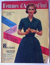 ?Femmes d'Aujourd'hui N°612 du 24/01/1957; Florence Véran/ Elégances du Soir