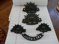 lot of 5 australia badges australian commonwealth military forces