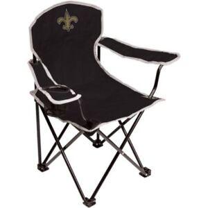 Set of 2 Coleman NFL Saints Youth Kids Fold Up Quad Chair New Orleans Saints