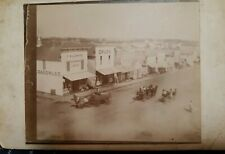 Collins Iowa old photo of Leonard hardware store fronts 1870 cabinet card