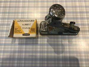 Vintage Vanguard Type No 4a Stapler Made In England + Staples