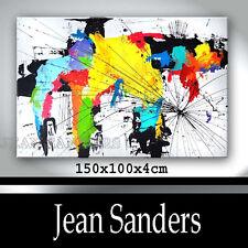 JEAN SANDERS - 150 x 100 x 4 cm - XXL - auffällig, bunt, abstrakt