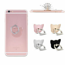 360° Metal Agarre dedos Anillo Soporte para teléfono móvil Gato Smartphone Stand