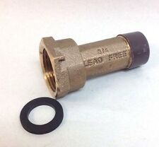 "3/4"" Water Meter Coupling, LEAD-FREE brass, 3/4"" Fem swivel nut x 3/4"" male NPT"