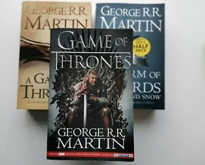 A Game of Thrones BOOKS by George RR. Martin 3 Books totally As Pics. Fast Post