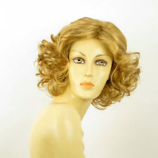 mid length wig for women curly blond golden ref: camie 24b PERUK