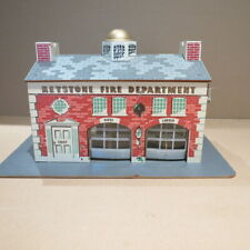 KEYSTONE  Fire Department playset with box,  # 1-165,  1950s