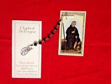 """NEW HAND-DESIGNED """"ST.PEREGRINE  """"MELANOMA CANCER CHAPLET"""", Prayer Booklet"""