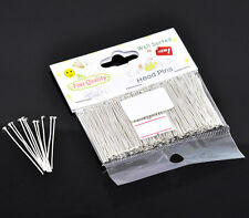 """1 Packet(300PCs) Well Sorted Silver Plated Head Pins 3.5cm(1-3/8"""") SP0595"""