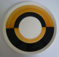 Hedwig Bollhagen Ritz Tablett 1065 Teller 33 cm orange schwarz weiss