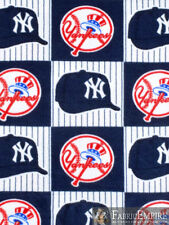 MLB New York Yankees Block Edition Licensed Fleece Fabric NL-MLB-43-OT