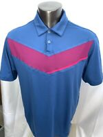 NIKE Golf Blue Purple GOLF Polo Men's Shirt Large