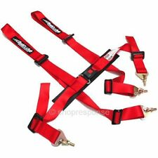 Buddy Club Racing Spec 4 Point Seat Belt Harness Red BC08-RSSH4-R