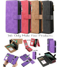 Leather Removable Magnetic Wallet Flip Card Case Cover for iPhone Samsung Huawei