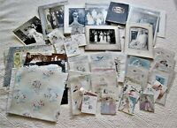 Lot of 55 Vintage Wedding Ephemera - Photos,Cards and Wrapping Paper
