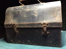 Antique Metal U.S. Military Air Force Lunchbox Metal Food Carrier Thermos Area