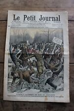 Petit journal dibujada Nº897 1908 - Accidente Madera de Boloña Bandidos La Leona