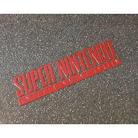 Super Nintendo SNES Label / Aufkleber / Sticker / Badge / Logo 50 x 13mm [245b]