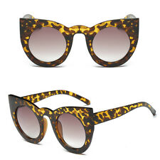 Fashion Round Cat Eye Oversized Sunglasses Retro Thick Vintage Style Frame Women 3#