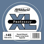 D'Addario ProSteels PSB145TSLextra-longue, sans surfilage,Clibre .145 - Corde a