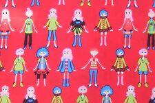 La gente sobre un fondo rojo material de seda italiana Casa de muñecas en miniatura de tela ZF