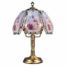 """Stained Glass Shade Touch Switch Lamp Cat Design Decor Lamp Bedroom Light 23.5"""""""