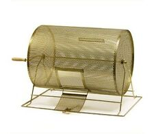 Large Size Spinning Brass Metal Raffle Ticket Drawing Bingo Prize Drum Cage New
