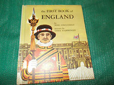 FIRST BOOK OF ENGLAND, Noel Streatfield rare! 1958