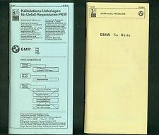 BMW 7er Serie 728 730 733i DAT Reparaturen Ersatzteil Preisliste 1980