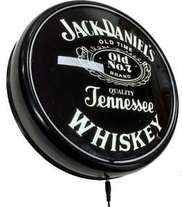 Jack Daniels BLACK LED Bar Lighting Wall Sign Light Button Man Cave Shed Gift