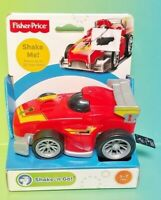 NEW Fisher Price Shake Go Race Car Red Ages 3+ New Toy Boys Girls Race Fun Play