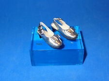 POPPY PARKER Silver Strappy Shoes with Bow for Poppy Fashion Royalty Barbie
