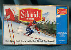VintageJACOB SCHMIDT BREWING CO. UNWRAPPED BEER FLAT-Racing Downhill Snow Skier