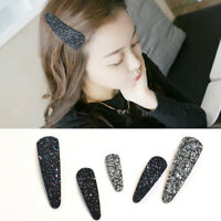 New Fashion Girls Sequins Hair Clip Snap Barrette Hairpin Bobby Hair Accessor JE