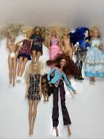 Lot of 10 Barbie, Chelsea Dolls 1990-2017 Barbie Doll, Accessories, Clothes